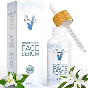 Night Face Serum Anti Aging With Oil Moisturizer Eye Body Best For Women Men Oily Dry Sensitive Skin Wrinkles Natural Retinol Above Organic Facial Vegan Neck Repair Cream Lotion Vitamin Acne Collagen