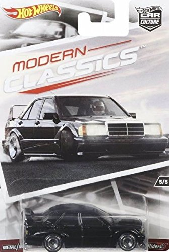 Mercedes 190e - HOT WHEELS CAR CULTURE MODERN CLASSICS BLACK MERCEDES-BENZ 190E 2.5-16 EVO II