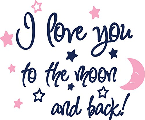 Amazon Com I Love You To The Moon And Back Again Wall Sayings Vinyl