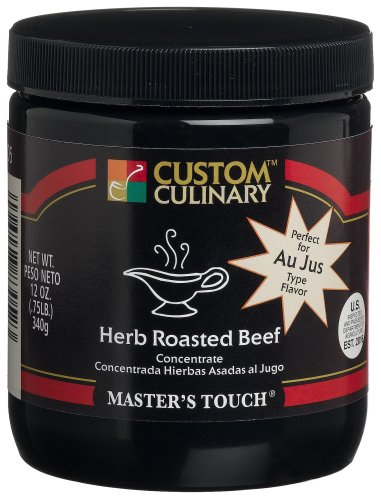Custom Culinary Master's Touch Custom Culinary Herb Roasted Beef Concentrate, 12-Ounce Jars (Pack of ()