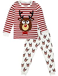 Toddler Pjs Little Boys Clothes Long Sleeve Tight-fit Cotton Pajamas Set 2-7 Years