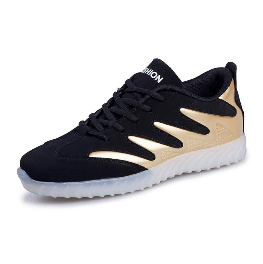 MhC Herrenschuhe PU Frühling/Herbst Licht Sohlen/Leuchten Schuhe Sportschuhe LED Schuhe Wanderschuhe Schwarz/Gold / Schwarz/Weiß