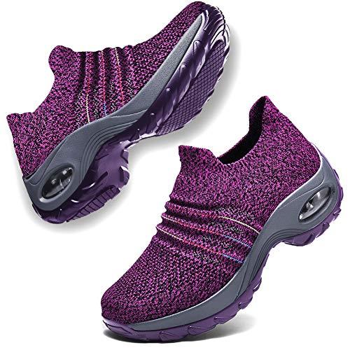 DierCosy Nursing Shoes for Women Black Slip on...