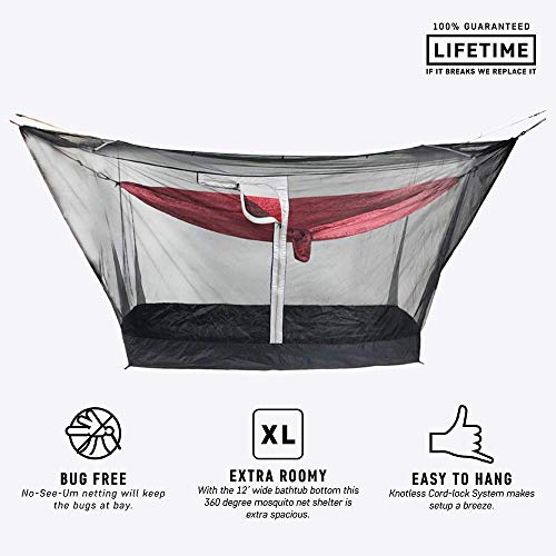 Grand Trunk Mozzy 360 Shelter, Black: Deluxe Mosquito Netting for Total Bug Protection - Fits Almost Any Hammock (Grand Trunk Hammock Double)