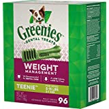 Greenies Weight Management Dental Chews for Dogs, Teenie, 96 Count (Pack of 12)