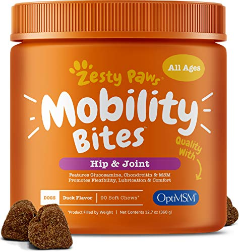 Rescue Super Strength Chewable Tablets - Glucosamine for Dogs - Hip & Joint Supplement for Dog Arthritis Pain Relief - With Chondroitin & MSM - Advanced Daily Natural Mobility Pet Soft Chews for Joints - All Canine Breeds & Sizes - 90 Count
