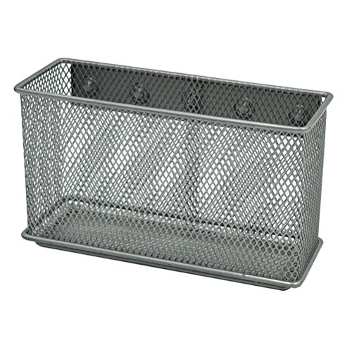 Exttlliy Sturdy Metal Mesh Magnetic Storage Basket Container for Whiteboard/Refrigerator/Magnetic Surface, Office Home Supply Organizer (XL) (Magnet Bill Fridge)