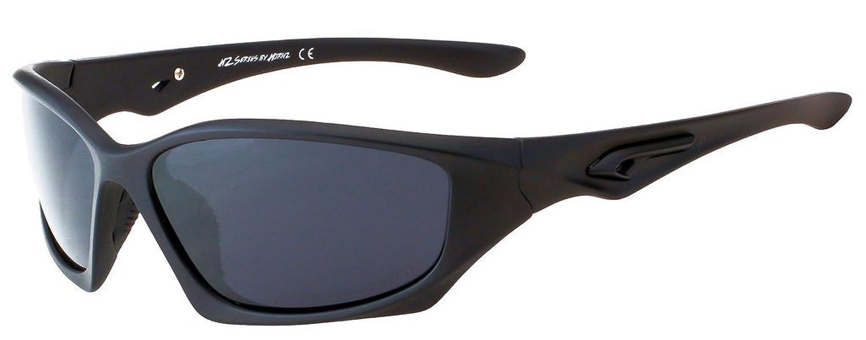 Hornz HZ Séries Pro - Lunettes de soleil Polarized Premium Cadre noir mat – Lentille de fumée noire n0nwzmSy