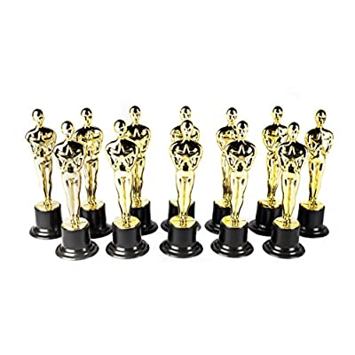 Award Medal of Honor Trophy Award Set of 48 Includes 24 Gold Winner Award Medals; 24 Gold Award Trophy Statues 6