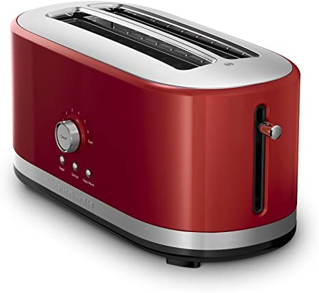 Amazon Com Kitchenaid 4 Slice Long Slot Toaster With High Lift Lever Empire Red Renewed Kitchen Dining