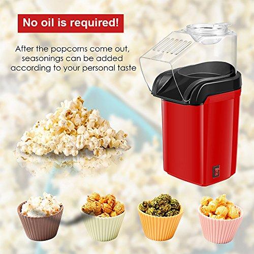 Máquina de palomitas, xiiyu 1200 W Popcorn Maker de aire caliente para la casa, kalorienarm sin grasa & aceite saludable: Amazon.es: Hogar