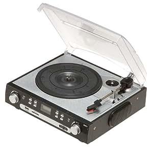 Reflecta LP-USB/SD - Tocadiscos (MP3, 230V, 50 Hz, Negro, Plata, 330 x 125 x 295 mm, 2,2 kg)