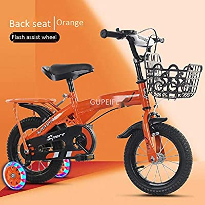 LINGS Foldable Bicycle Kids' Bikes 14 inch Children's Bicycle Rear seat Baby Bicycle Baby Carriage Men and Women Children Bicycle: Home & Kitchen