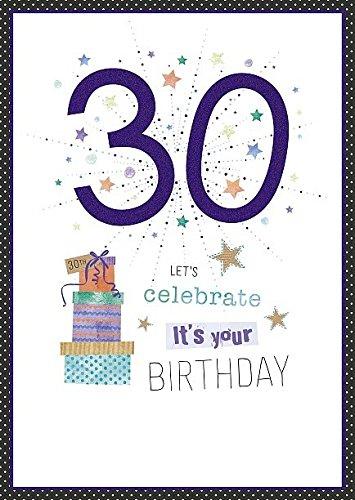 Carte danniversaire 30/ans Paillettes Nombre Permet de c/él/ébrer son votre anniversaire Violet H872