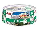 JVC Premium Grade CDR80 700MB Recordable CD - Spindle 25 Printable