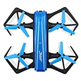 Yezijin Unmanned aerial vehicle, JJRC H43WH Blue Crea 720P WIFI Camera Foldable With Altitude Hold RC Quadcopter (Blue)