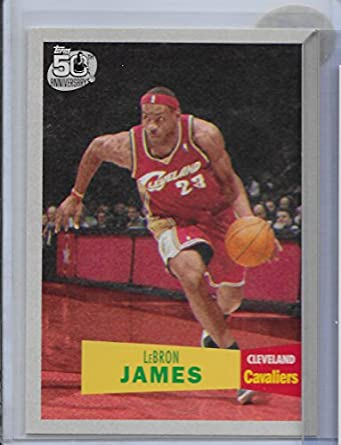 big sale aa05a a9960 Amazon.com: 2007 Topps 1957-58 Variations 23 Lebron James M ...