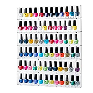 Acrylic nail polish holder do it yourselfore sagler nail polish rack acrylic nail polish organizer holds up to 102 bottles clear solutioingenieria Gallery