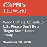 World Climate Activists to U.S.: Please Don't Be a 'Rogue State' Under Trump | Peter Thomson