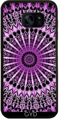 Funda de silicona para Samsung Galaxy S7 (SM-G930) - Mandala Púrpura Metálico Negro by Nina Baydur