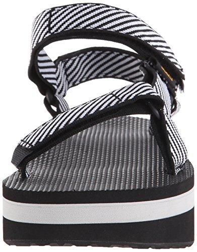 Teva Damen Flatform Universal W Wedge-Sandalen Süßigkeit-Streifen-Schwarzes
