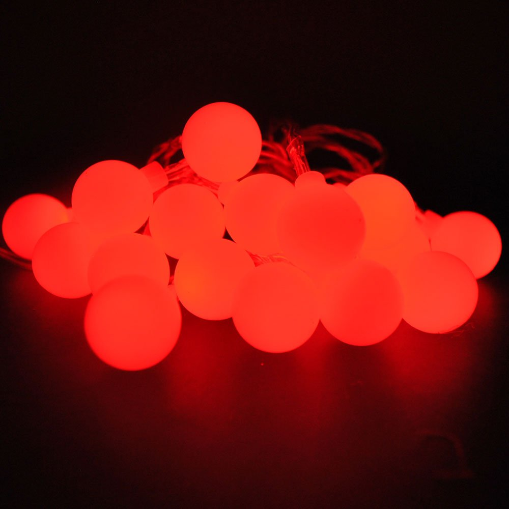 LightsGo® Battery Powered Berry Ball LED Fairy Lights 20LEDs 2M (Blue) [Energy Class A++]