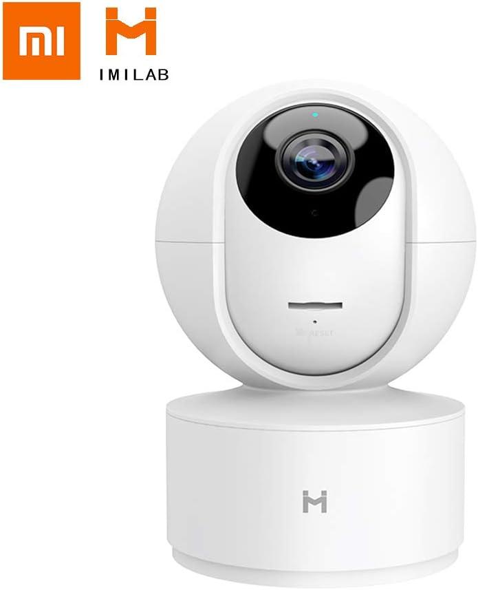 Mijia Xiaobai IMILAB Cámara de Seguridad Inalámbrica para Hogar de 360 Grados 1080P Monitor de Bebé HD de Visión Nocturna Actualizado con Detección Humana Registro en Nube Gratis