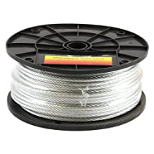 Forney 70447 Wire Rope, Galvanized Aircraft Cable, 250-Feet by 3/16-Inch