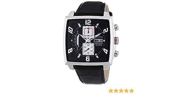 Festina F6826/1 - Reloj cronógrafo de Cuarzo para Hombre con Correa de Piel, Color Negro: Amazon.es: Relojes