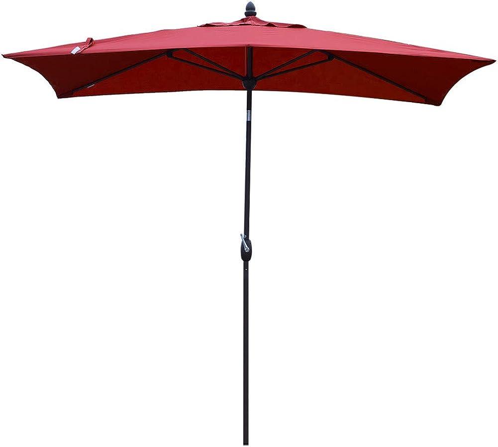 SORARA Rectangular Patio Umbrella Outdoor Market Table Umbrella