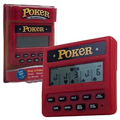 Trademark Global Electronic Handheld 5 in 1 Poker Game: Sports & Outdoors