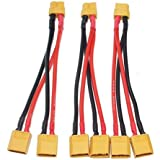 Black Menba 3 Sets XT60 Parallel Battery Connector Cable for RC Multicopter Quadcopter