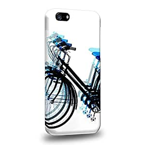 Diy iphone 5 5s case The most popular Art Psychedelic Bicycle Blue Protective Snap-on Hard Back Case Cover for Apple iPhone 5 5S