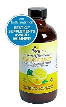 Pacific Resources Children's Lemon and Honey Cough Elixir, 8-Ounce