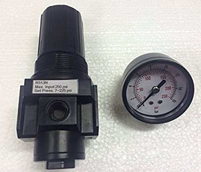 "3/8"" NPT Heavy Duty Regulator with Gauge Replacement For Air Compressors"
