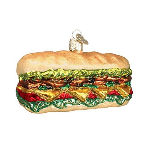 Old World Christmas Deli Sandwich Glass Blown -