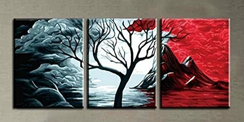 [Wooden Framed] Diy Oil Painting, Paint By Number-The Volcano 2020 Inch by digital oil painting by digital oil painting