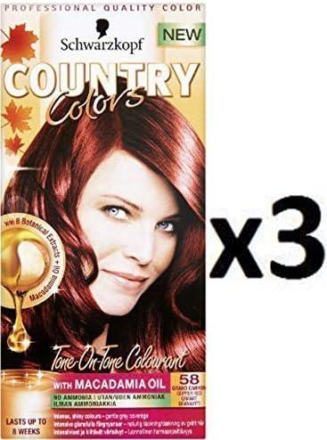 Schwarzkopf Country Colores, tinte para el cabello, colores ...