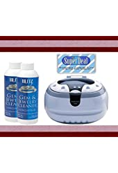 Bogue Systems Professional Grade Ultrasonic Jewelry Cleaner 2800 + 2 Blitz (8oz) Concentrated Gem & Jewelry Cleaning Solutions, with BONUS CLEANING CLOTH
