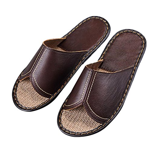 Slippers for Corium Men Floor Smelly Wooden Cowhide M Caf¨¦ Spring Autumn TELLW Leather Summer Anti Women gvwTq1pP