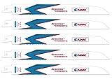 EZARC Reciprocating Saw Blade Wood and Metal Demolition 9-Inch 10TPI R930DM (5-Pack)