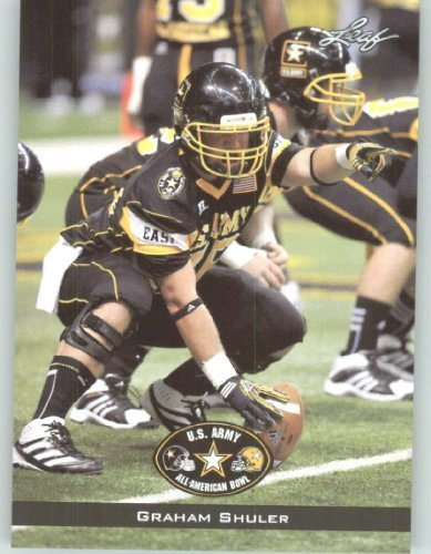 2012 Leaf US Army All -American Bowl Rookie Football Card #39 Graham Shuler OL - Stanford - Breantwood Academy Brentwood - Stores Brentwood
