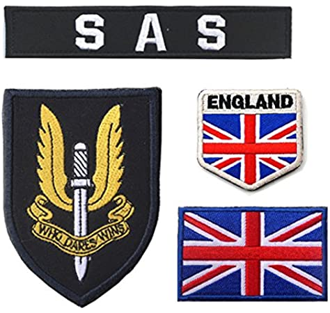 Oyster-Patch - Gancho de Parche táctico SAS del ejército británico del Reino Unido, Negro: Amazon.es: Deportes y aire libre