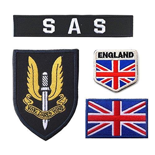 Oyster-Patch UK Army United Kingdom British Special Air Service SAS Tactical Patch Hook & Loop (Blue)