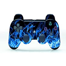 UUShop Vinyl Skin Decal Cover Blue Fire Flame for PS3 Controller