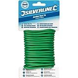 Silverline 633941 - Jardín de plástico sujetadores de alambre de 2,5 mm x 8 m
