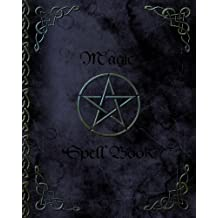 Magic Spell Book: of Shadows / Grimoire ( Gifts ) [ 90 Blank Attractive Spells Records & more * Paperback Notebook / Journal * Large * Pentacle ]
