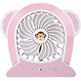 RoyalTop Handheld Mini Portable USB Rechargeable Table Fan with 3 Wind Speeds