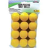 PrideSports Practice Golf Balls, Foam, 12-Count, Yellow