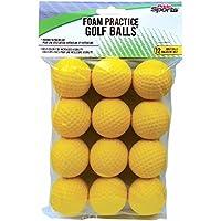 PrideSports Practice Pelotas de golf, Espuma, 12 unidades, Amarillo